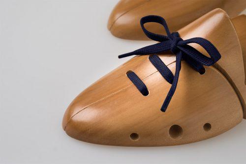lacci cerati blu scarpa di lusso elegante