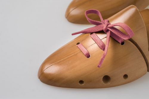 Lacci piatti cerati eleganti raffinati rosa antico scarpe prada