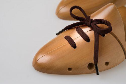laccio piatto cotone puro al 100% testa di moro marrone per scarpe eleganti e sportive nike adidas tod's