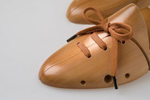 laccio piatto cotone puro 100% color Cognac marrone chiaro per scarpe sportive eleganti