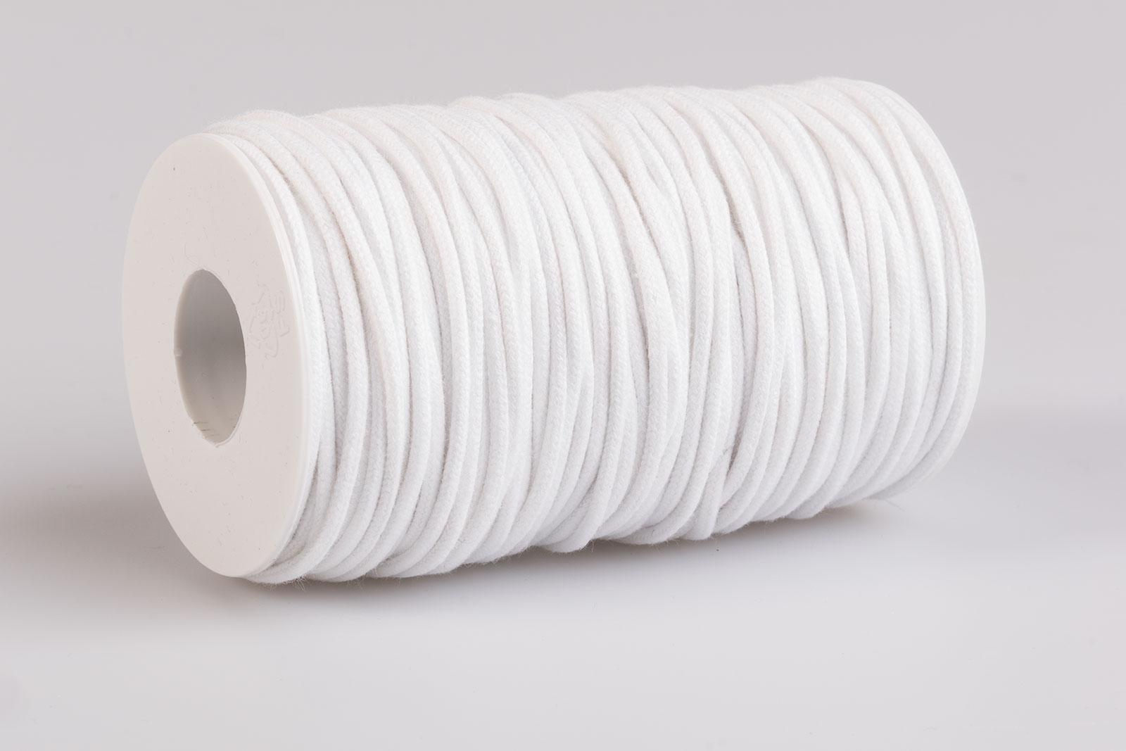 Acquista Cordino tondo cotone Bianco - Laccioteca fa32e4c54e1