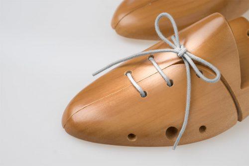 lacci scarpe cotone grigio