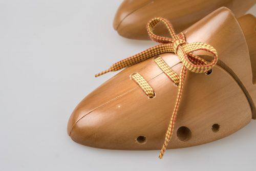 Lacci per scarpe bicolore a quadretti