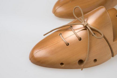 lacci avana scuro scarpe eleganti cotone 100% bio ecosostenibile