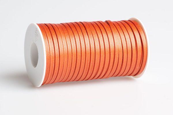 Acquista Cordino piatto cerato Arancio Scuro
