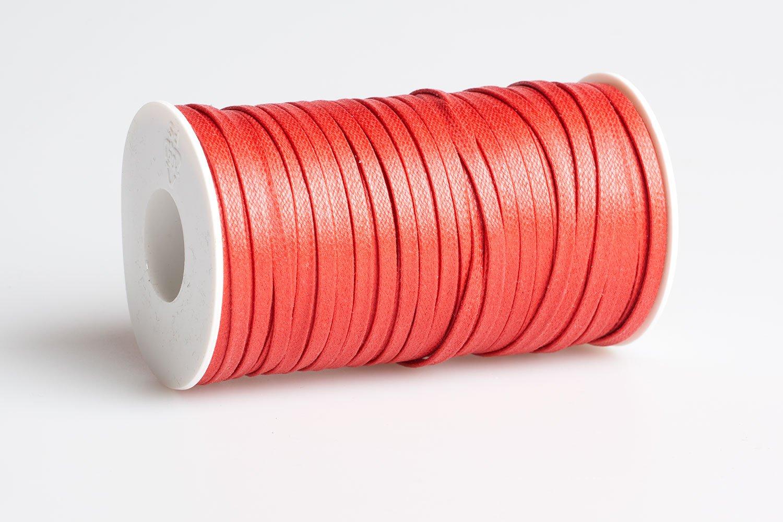 Acquista Cordino piatto cerato Rosso - Laccioteca b94fb6155be