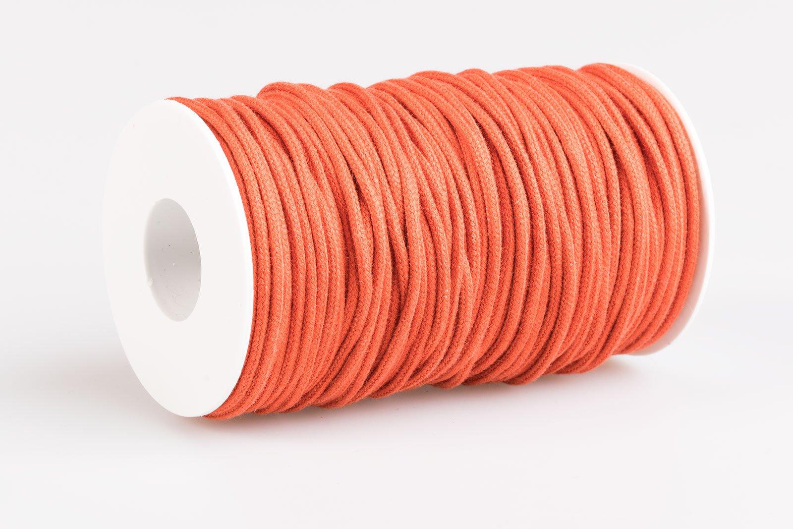 Acquista Cordoncino Tondo in Cotone Arancione Scuro - Laccioteca 433e00466e3