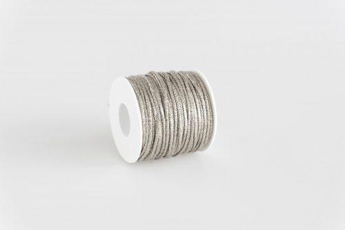 Cordoncino lurex argento brillante filo oro