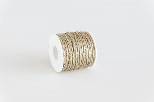 Cordoncino lurex Platino brillante filo oro