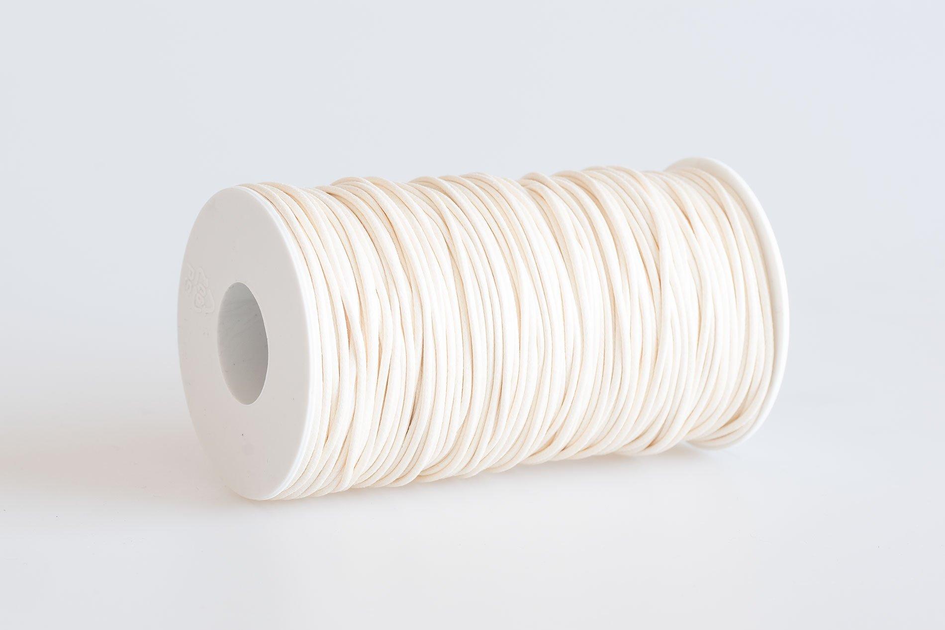 Acquista Cordino tondo cerato Bianco Latte - Laccioteca 5653339f02f